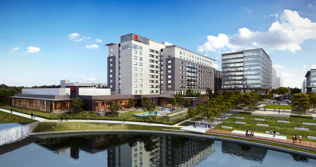 Woodbine and partners break ground on Marriott CityPlace at Springwoods Village near Houston